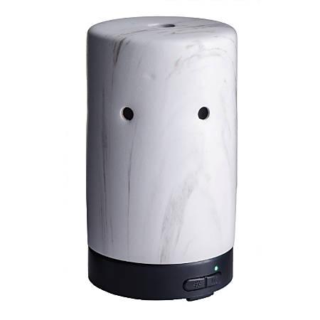 "Airome Ultrasonic Essential Oil Diffuser, 6-1/4"" x 3-3/4"", White Marble"