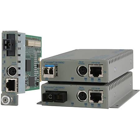 Omnitron Systems iConverter Media Converter - 1 x Network (RJ-45) - 1 x ST Ports - Single-mode - 100Base-TX, 100Base-FX - Internal