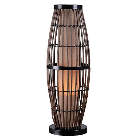 "Kenroy Biscayne Outdoor Table Lamp, 31""H, Tan Shade/Rattan Base"