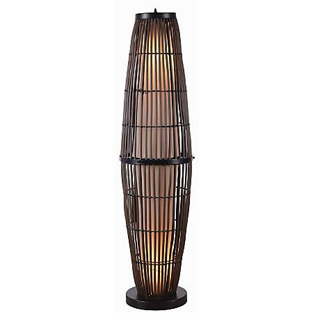 """Kenroy Home Biscayne Outdoor Floor Lamp, 51""""H, Tan/Black"""