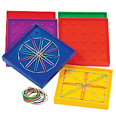 Learning Resources Double Sided Rainbow Geoboards