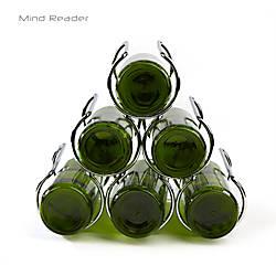 Mind Reader Steel Framed Pyramid Wine