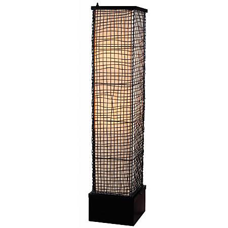 "Kenroy Home Trellis Outdoor Floor Lamp, 51""H, Black/Cream Shade, Bronze Base"