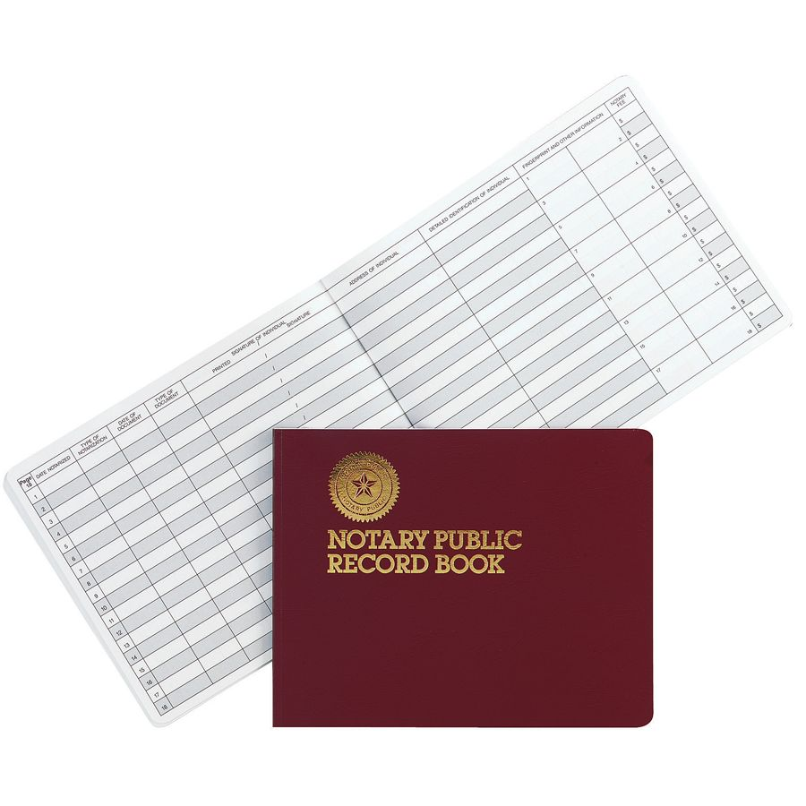 Dome Notary Public Record Book by Office Depot OfficeMax