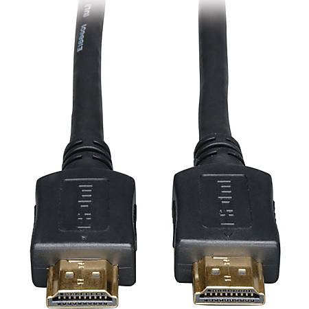 Tripp Lite 20ft High Speed HDMI Cable Digital Video with Audio 1080p M/M 20' - HDMI for Audio/Video Device, TV, Plasma, LCD TV, Projector, Blu-ray Player, A/V Receiver, iPad - 20 ft - 1 x HDMI Male Digital Audio/Video - 1 x HDMI Male Digital Audio/Video