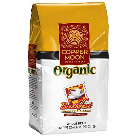 Copper Moon Coffee Whole Bean Coffee, Breakfast Blend Organic, 2 Lb Per Bag, Case Of 4 Bags