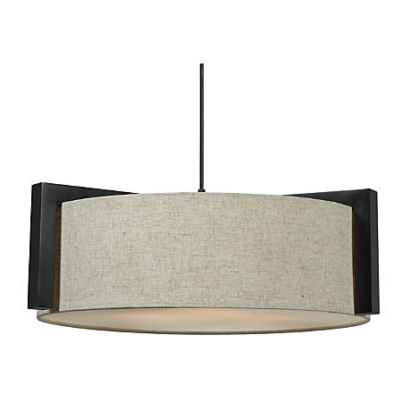 "Kenroy Home Teton Hanging Pendant Lamp, 3-Light, 7""H, Bronze"