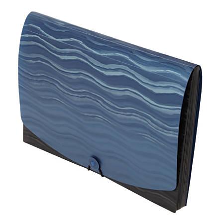 Office Depot® Brand Poly 13-Pocket File, Letter Size, Black/Blue