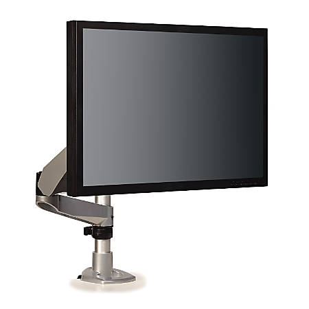 "3M™ Mounting Arm For Flat-Panel Displays Up To 27"", Silver/Black"