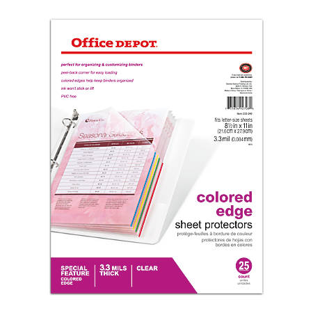 Sheet Protectors from Office Depot OfficeMax.