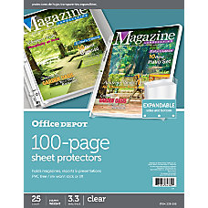 Office Depot Brand 100 Page Expandable