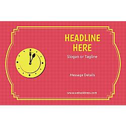 Custom Poster Lunch Clock Horizontal