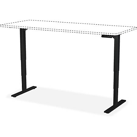 "Safco Electric Hgt-Adjustable Teaming Table Base - 49"" Height x 74"" Width x 27.50"" Depth - Assembly Required"
