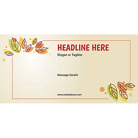 Custom Horizontal Banner, Leaves