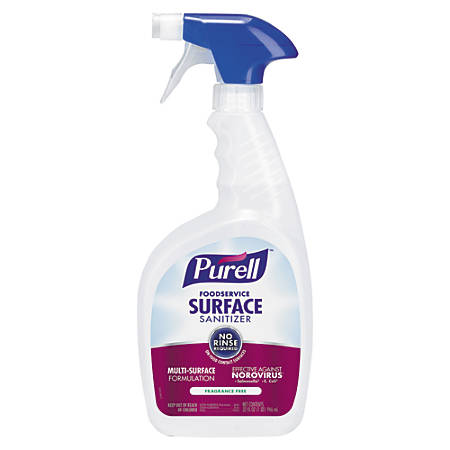 Purell® Food Service Surface Sanitizer, Unscented, 32 Oz, Case Of 3
