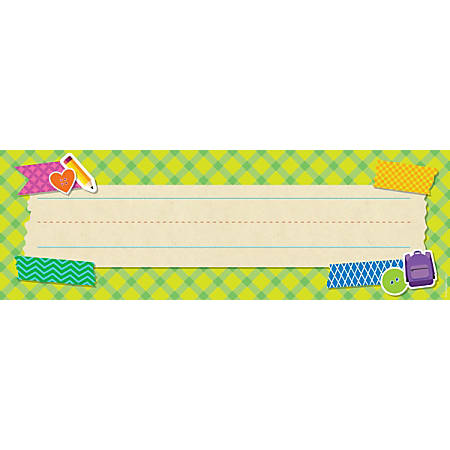 """Scholastic Tape It Up! Name Plates, 12"""" x 4"""", Preschool - Grade 6, Pack Of 36"""