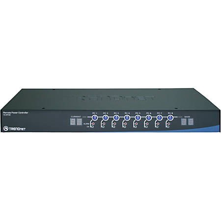 TRENDnet TK-RP08 8-Outlets PDU - Network (RJ-45) - 1U - Rack Mount