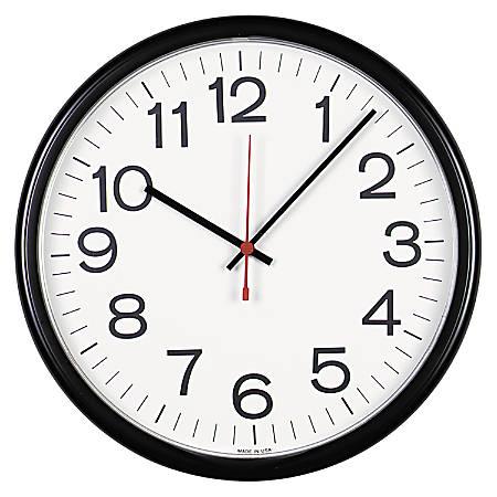 """Universal Indoor/Outdoor Clock, 13 1/2"""", Black"""