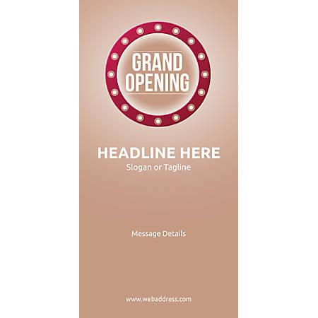 Custom Vertical Display Banner, Retro Grand Opening
