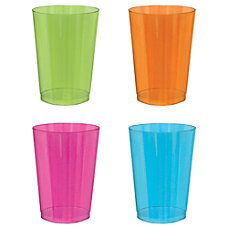 Amscan Black Light Neon Plastic Tumblers