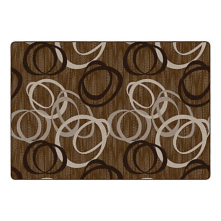"Flagship Carpets Duo Rectangular Rug, 100"" x 144"", Chocolate"