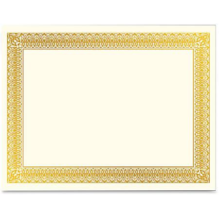 Geographics Gold Foil Certificate - Laser, Inkjet Compatible - Gold with Gold Border15 / Pack