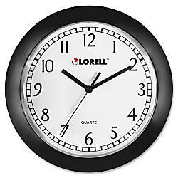 Lorell 9 Round Profile Wall Clock