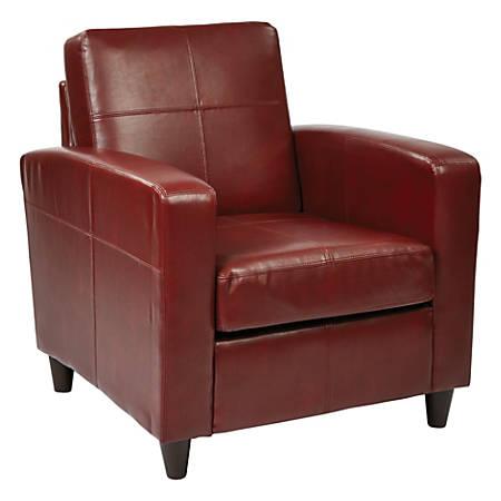 Ave Six Venus Club Chair, Crimson/Dark Brown