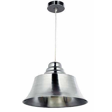 "Kenroy Spinnaker 1-Light Hanging Pendant, 13""H, Brushed Steel"