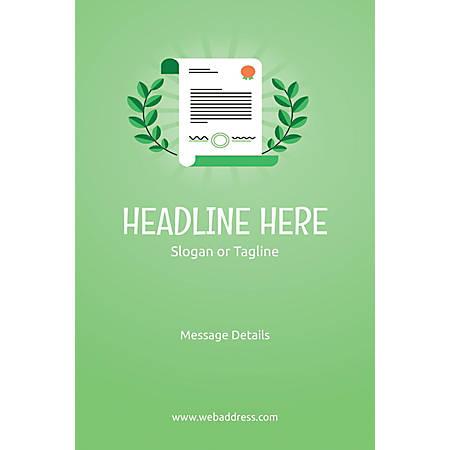 Custom Poster, Certificate, Vertical