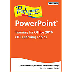 Professor Teaches PowerPoint 2016 Download Version