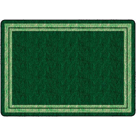 "Flagship Carpets Double-Border Rectangular Rug, 72"" x 100"", Clover Green"