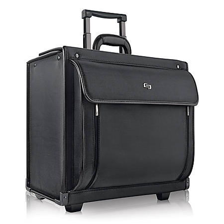 "Solo® Herald Rolling Catalog Case For 16"" Laptops, Black"