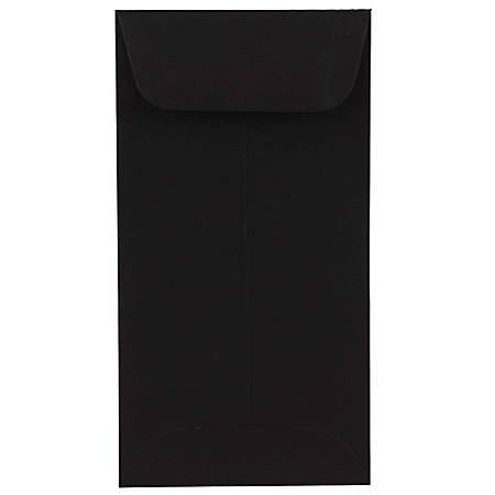 "JAM Paper® Open-End Coin Envelopes, #7, 3 1/2"" x 6 1/2"", Black, Pack Of 25"