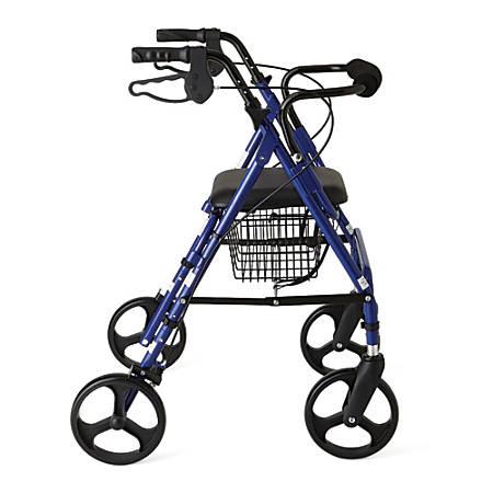 "Guardian Aluminum Rollator, 8"" Wheels, Blue"