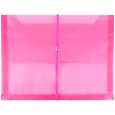 JAM Paper Plastic Booklet Envelope With