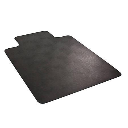 """Deflect-O Chair Mat For Industrial Carpet, Rectangular, 45"""" x 53"""", Black"""
