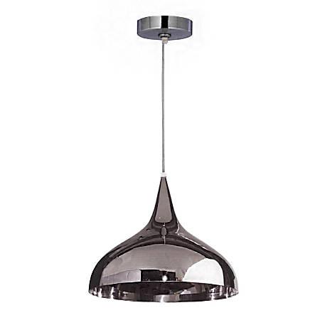 "Kenroy Minaret 1-Light Hanging Pendant, 12""H, Polished Nickel"