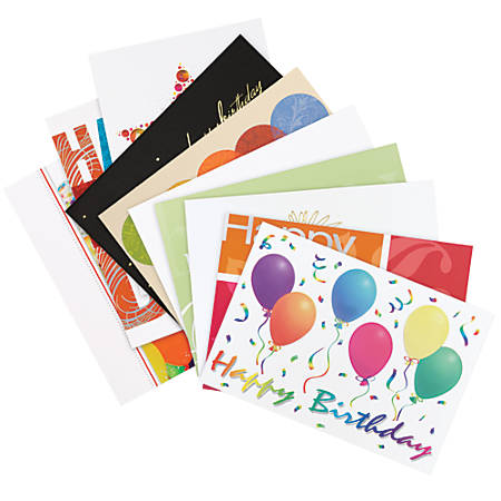 """All-Occasion Assortment Pack, 7 7/8"""" x 5 5/8"""", Birthday, Pack Of 50"""