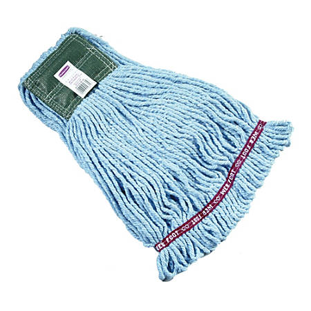 "Rubbermaid Premium Web Foot Shrinkless Wet Mop, Medium 5"" Headband, Blue"
