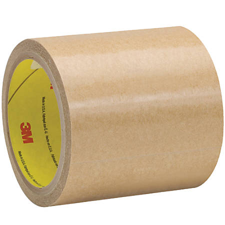 """3M™ 9458 Adhesive Transfer Tape Hand Rolls, 3"""" Core, 4.25"""" x 60 Yd., Clear, Case Of 3"""