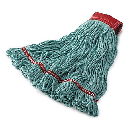 "Rubbermaid Swinger Loop Wet Mop, Medium 5"" Headband, Green"
