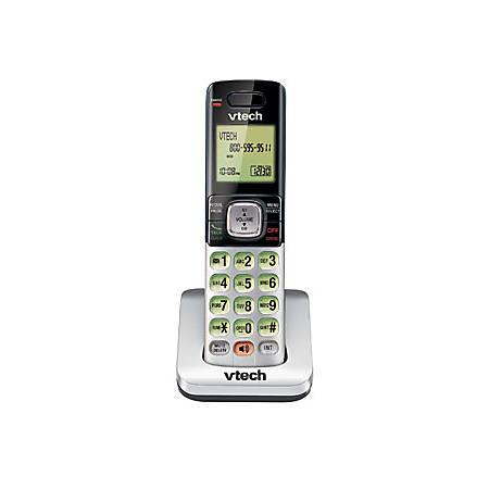 VTech® CS6709 DECT 6.0 Cordless Expansion Handset, Black/Silver