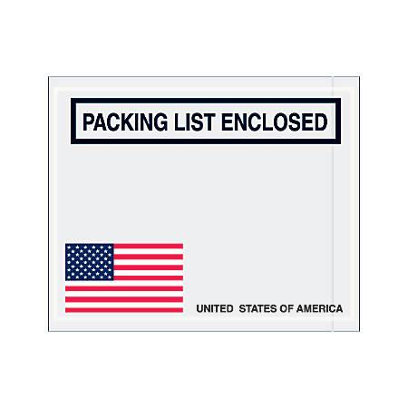 """Office Depot® Brand Packing List Envelopes, 4 1/2"""" x 5 1/2"""", USA Flag, Pack Of 1,000"""