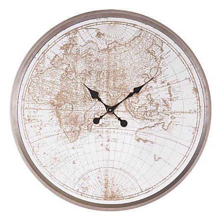 Zuo Modern Hora Mundial Clock, Antique Silver