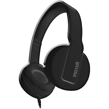 Maxell Solid2 Black Headphones - Stereo - Black - Mini-phone - Wired - Over-the-head - Binaural - Circumaural