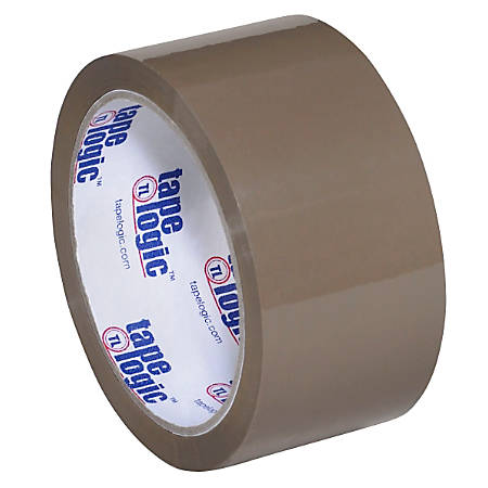 "Tape Logic™ #700 Hot Melt Tape, 2"" x 55 Yd., Tan, Case Of 36"