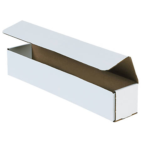 """Office Depot® Brand 12"""" Corrugated Mailers, 2""""H x 2""""W x 12""""D, White, Pack Of 50"""
