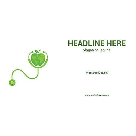 Custom Horizontal Banner, World Health