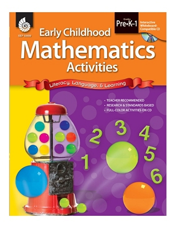Shell Education Early Childhood Activities Set, Mathematics, Grades Pre K - K